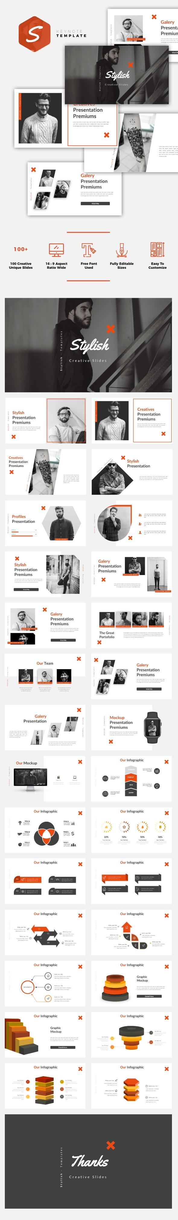 Stylish - Creative Keynote Template - Creative Keynote Templates