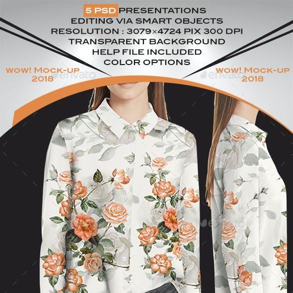 Women Blouse T-Shirt Mock-up