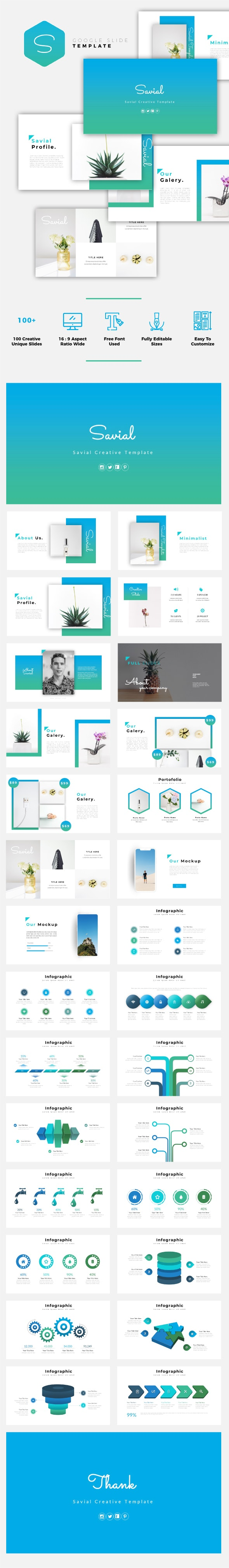 Savial - Creative Google Slides Template - Google Slides Presentation Templates