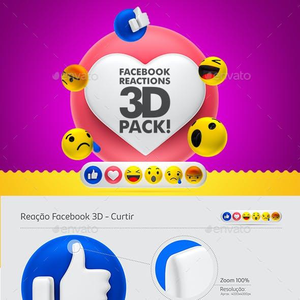 Facebook Reactions - 3D Pack!