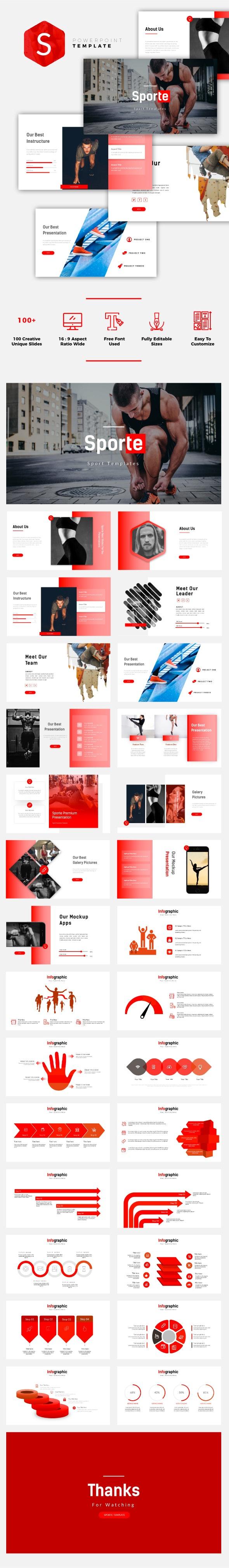 Sporte - Sport PowerPoint Template - Miscellaneous PowerPoint Templates
