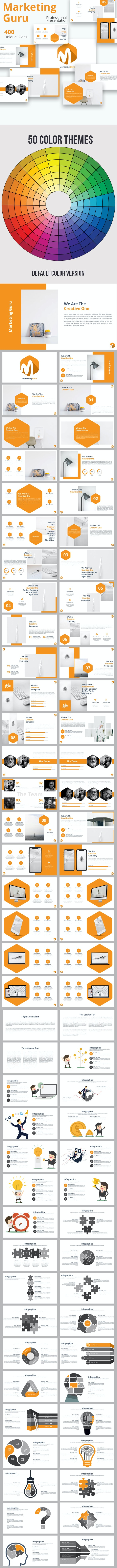 Marketing Guru Powerpoint Presentation Template - Business PowerPoint Templates