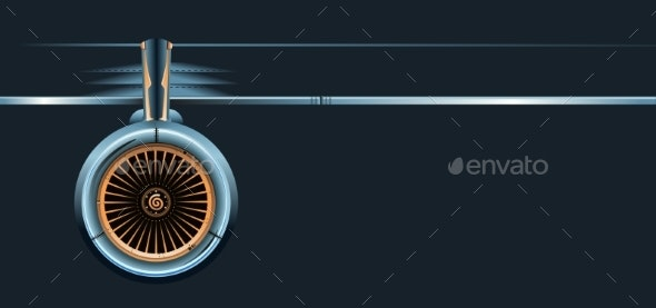 Wing with Turbine - Man-made Objects Objects