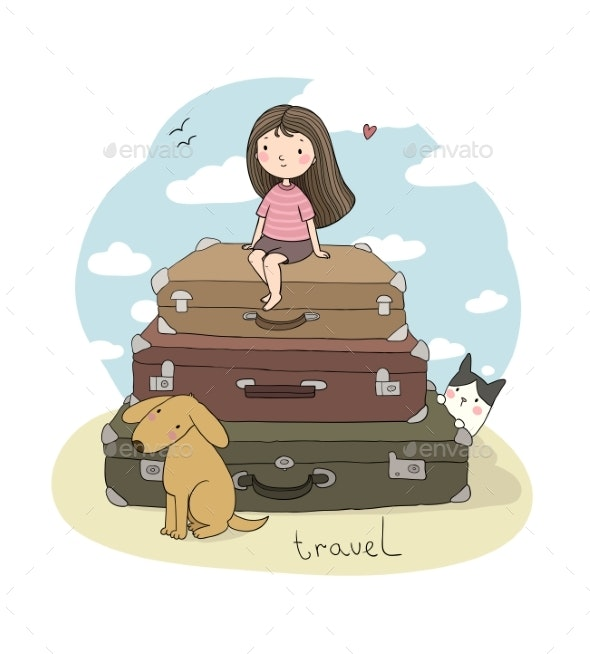 Happy Travel - Travel Conceptual