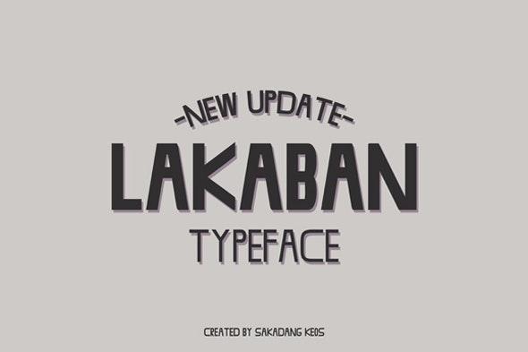 Lakaban Font - Sans-Serif Fonts