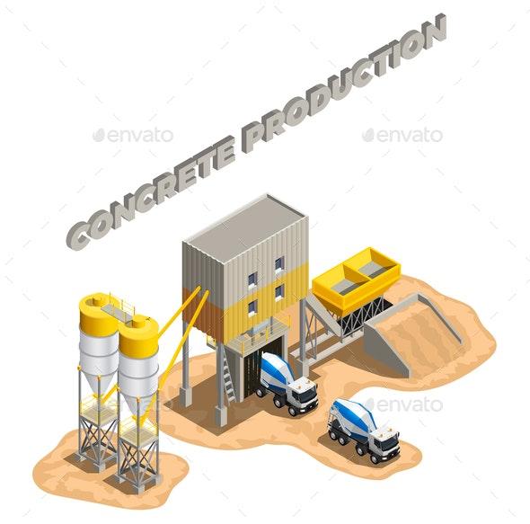 Concrete Plant Area Composition - Industries Business
