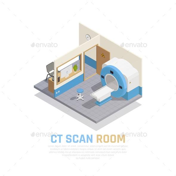 Neurology Isometric Concept - Health/Medicine Conceptual