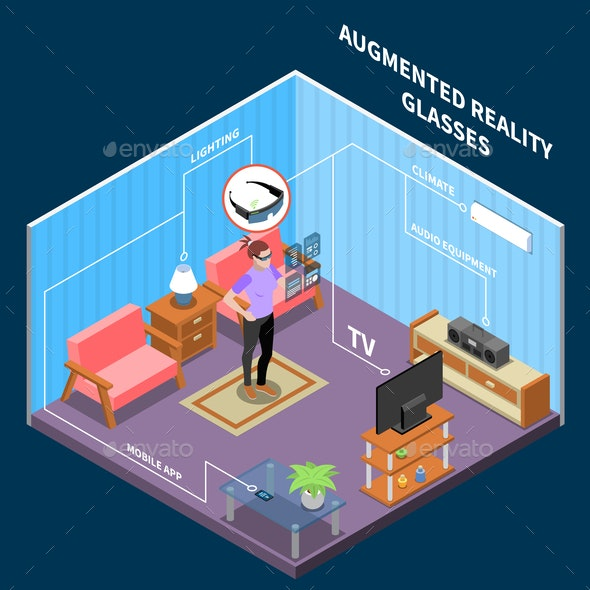 Augmented Reality Glasses Composition - Miscellaneous Vectors