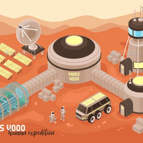 Extraterrestrial Base Landscape Background