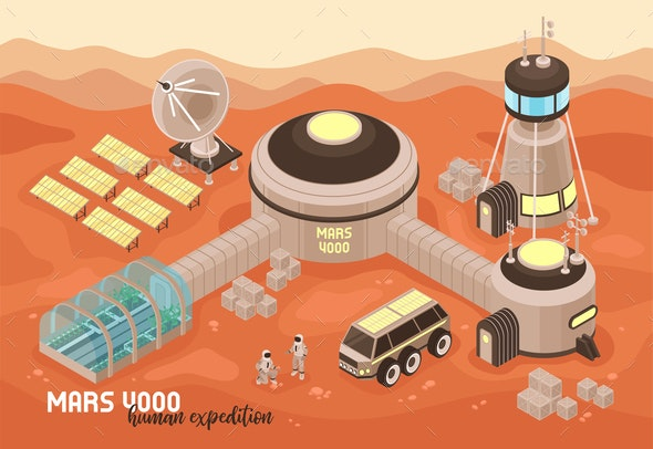 Extraterrestrial Base Landscape Background - Miscellaneous Vectors