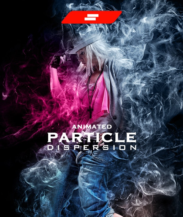 Gif Animated Particle Dispersion - Photo Effects Actions