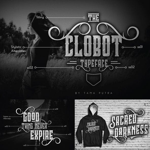 Clobot Decorative Serif Typeface