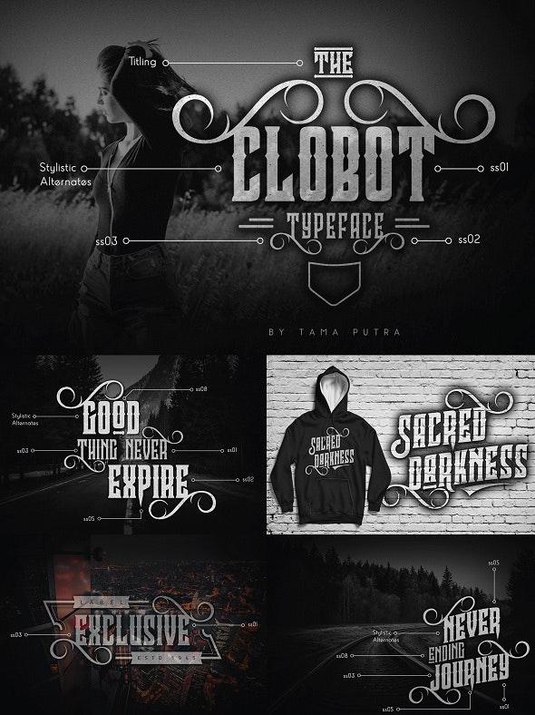 Clobot Decorative Serif Typeface - Decorative Fonts