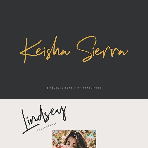 Keisha Sierra Signature Font