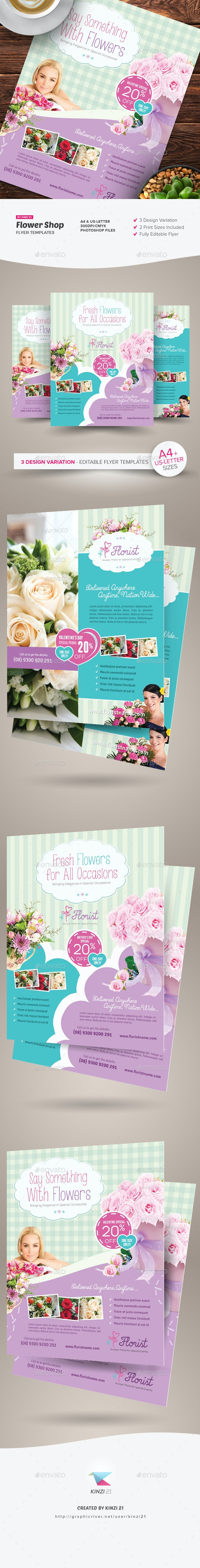 Flower Shop Flyer Templates - Corporate Flyers