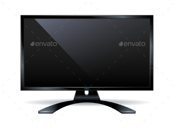 Monitor Frame Isolated on White - Computers Technology