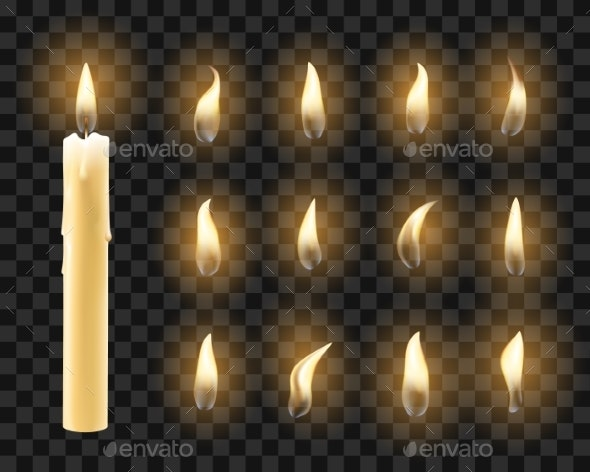 Candles with Warm Candlelight - Miscellaneous Vectors