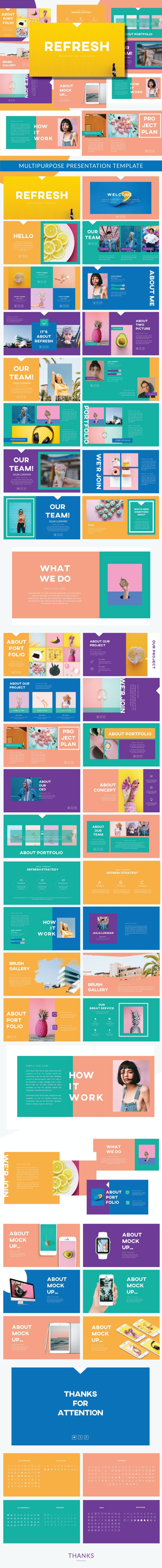 Refresh Keynote Template - Keynote Templates Presentation Templates
