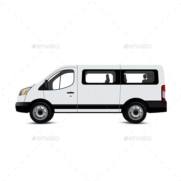 White Van Mockup - Industries Business
