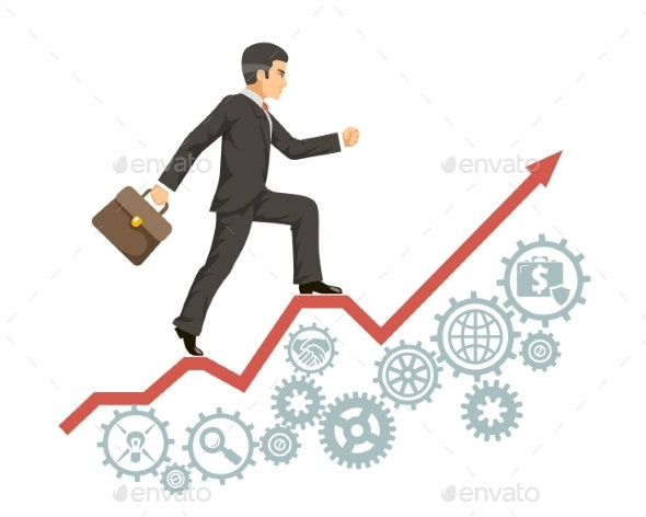 Strong Confident Experienced Businessman Business - Business Conceptual