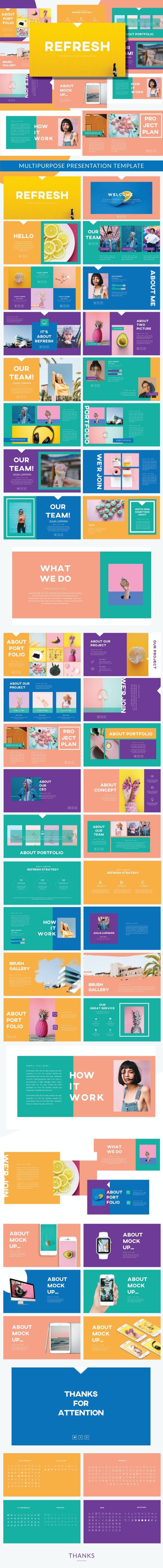 Refresh Business Googleslide - Google Slides Presentation Templates