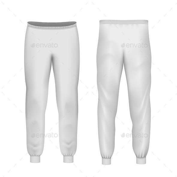 White Vector Pants - Man-made Objects Objects