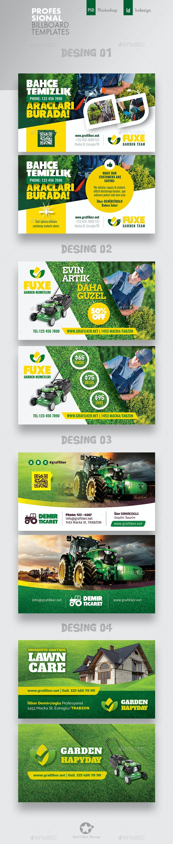 Garden Landspace Business Card Bundle Templates - Corporate Business Cards
