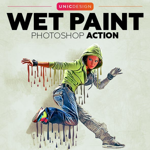 Wet Paint Photoshop Action (With 3D Pop Out Effect)