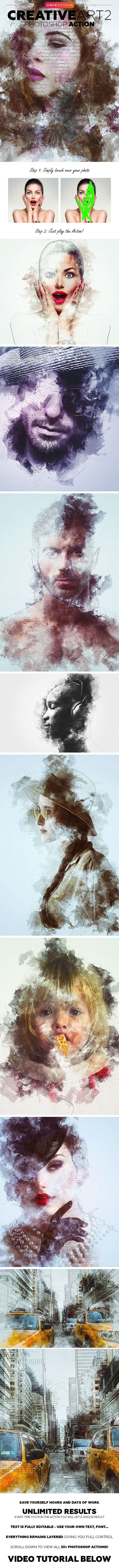 CreativeArt 2 Photoshop Action - Photo Effects Actions