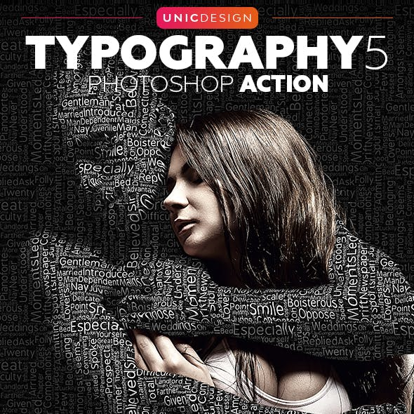 Typography 5 Photoshop Action