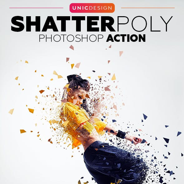 ShatterPoly Photoshop Action