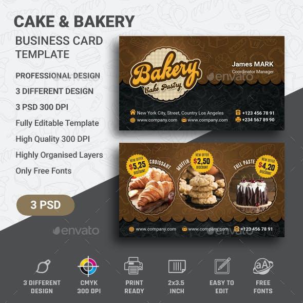 Cake Business Card Template