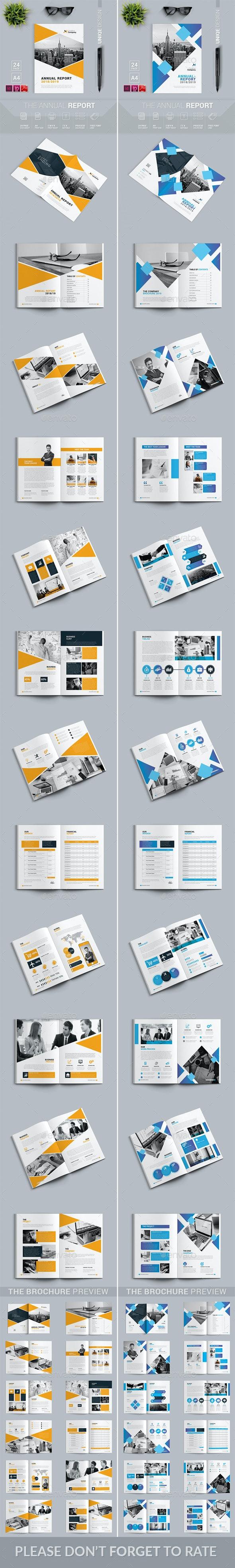 Annual Report Bundle 2 in 1 - Brochures Print Templates