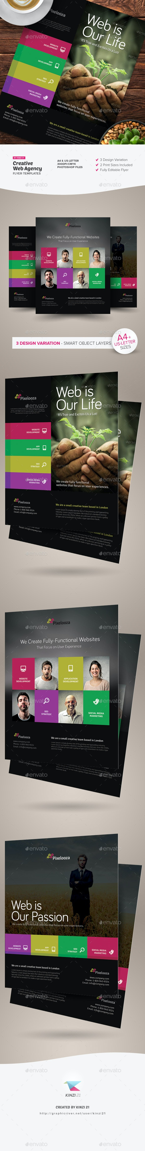 Creative Web Agency Flyers - Corporate Flyers