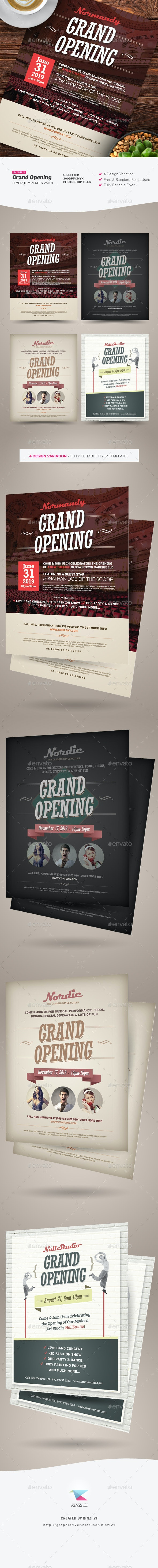Grand Opening Flyers Vol.01 - Corporate Flyers