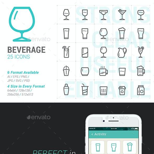 Beverage & Glass Mini Icon