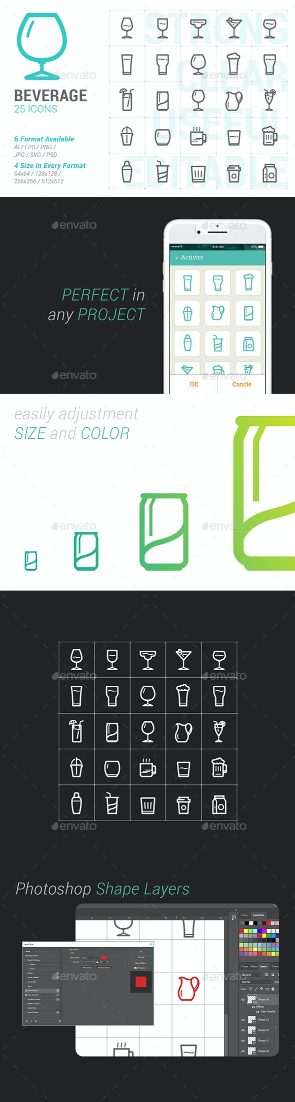 Beverage & Glass Mini Icon - Objects Icons