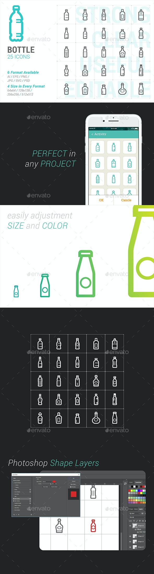 Bottle Mini Icon - Objects Icons