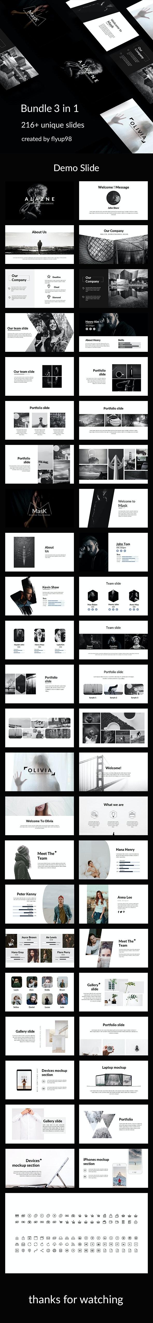 3 in 1 Premium - Feb 1 Powerpoint Template Bundle - Creative PowerPoint Templates
