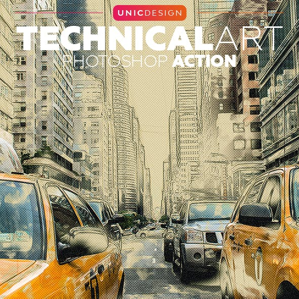 TechnicalArt Photoshop Action