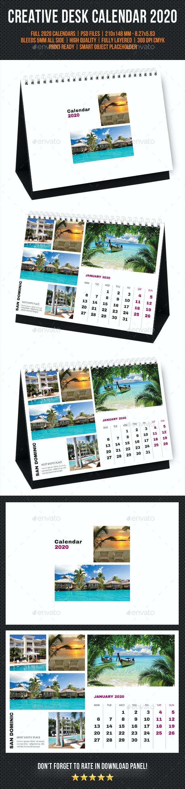 Creative Desk Calendar 2020 V33 - Calendars Stationery