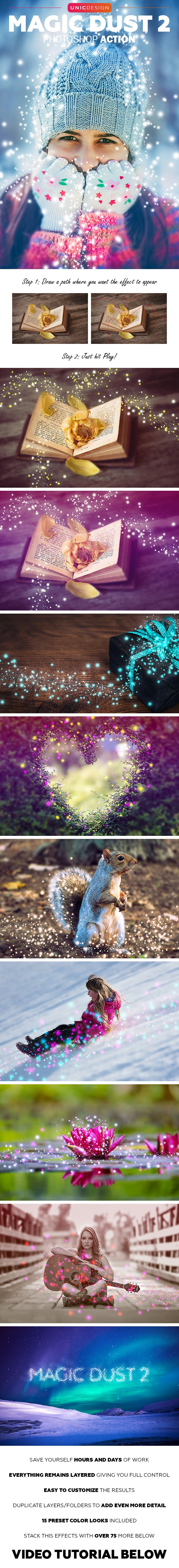 Magic Dust 2 Photoshop Action - Photo Effects Actions