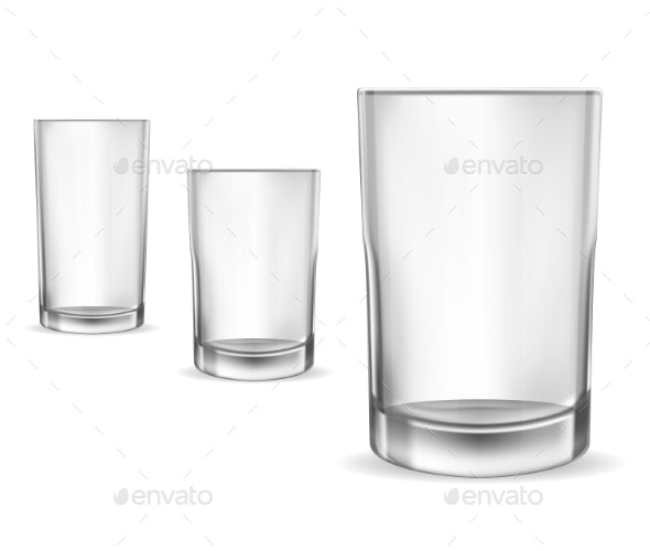 Glasses Empty - Food Objects