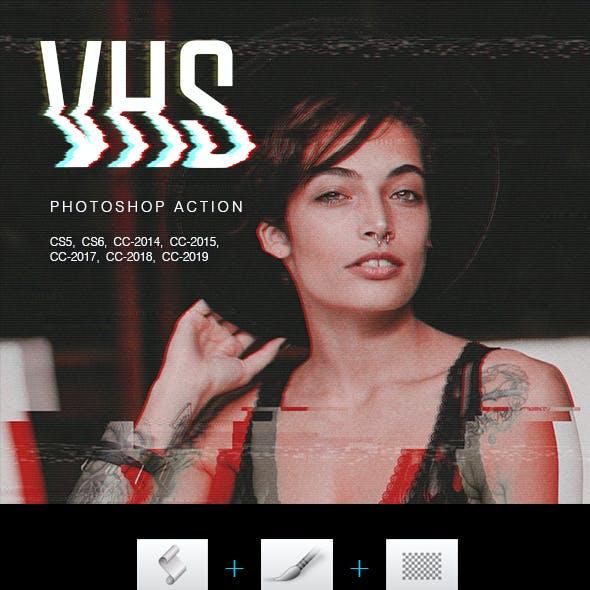 VHS Photoshop Action