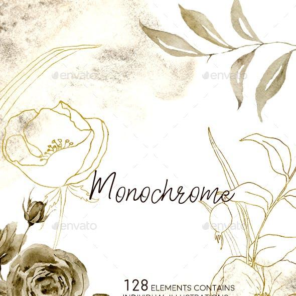 Monochrome Watercolor