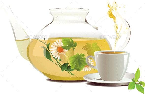 Teapot Cup - Health/Medicine Conceptual