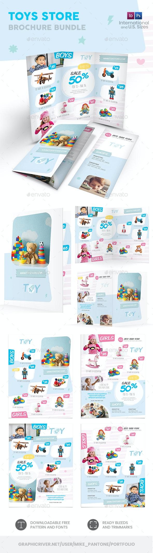 Toys Store Print Bundle 2 - Informational Brochures