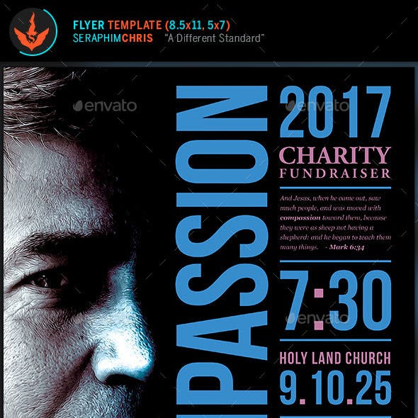 Charity Fundraiser Church Flyer Template