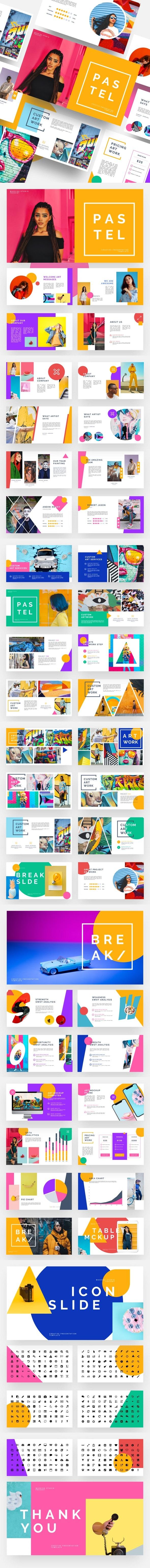 Pastel - Pop Art & Graffiti Keynote Template - Creative Keynote Templates