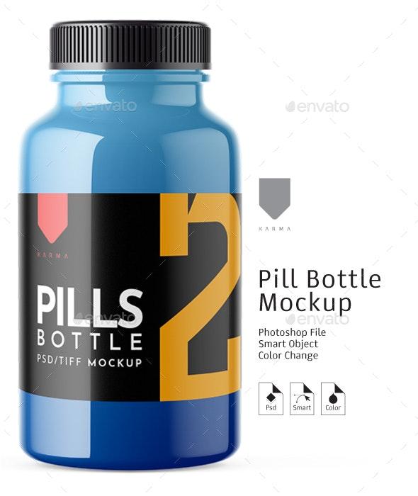 Pills Bottle Mockup 2 - Packaging Product Mock-Ups